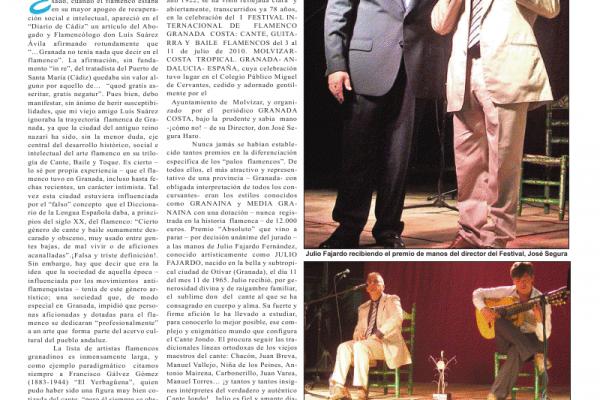 Julio Fajardo, Triunfador Absoluto del Primer Concurso Internacional de Cante, Baile y Guitarra