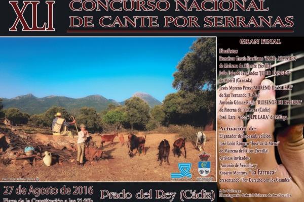 Julio Fajardo conquista el XLI Concurso nacional de Cante por Serranas Prado del Rey