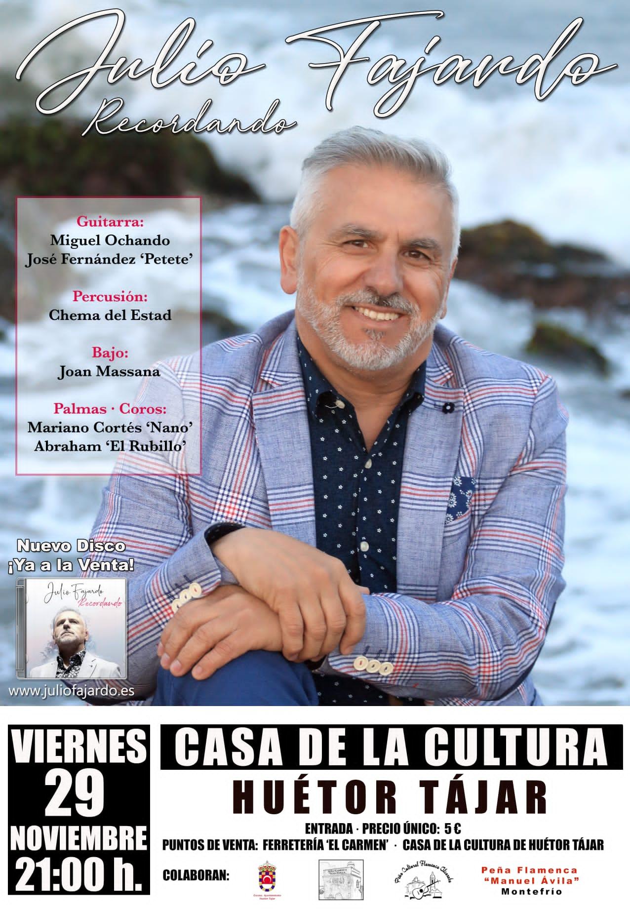 """Presentación nuevo disco """"Recordando"""" en Huétor Tájar"""