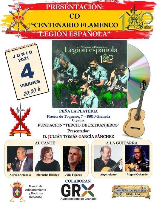 """Presentación CD """"Centenario Flamenco Legión Española"""""""